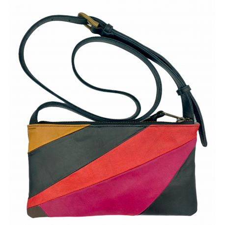 Leather bag Cyn patchwork combi 2