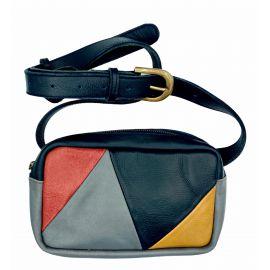 Leather bum bag Dorus patchwork combi 1