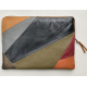 Leren laptophoes Lucas patchwork multicolor voor de Apple 16 inch