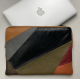 Leather laptop sleeve Lucas patchwork multicolor for the Apple 16 inch
